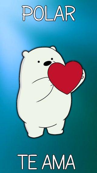 Обои на телефон щенки, полярный, любовь, вся правда о медведях, polar te ama