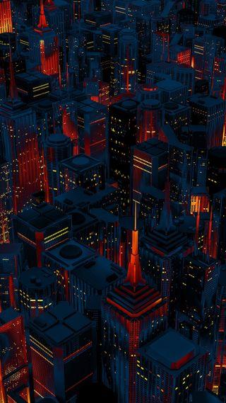 Обои на телефон светящиеся, город