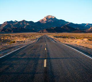 Обои на телефон пустыня, природа, дорога, горы