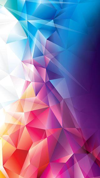Обои на телефон синие, розовые, фиолетовые, цветные, многоугольник