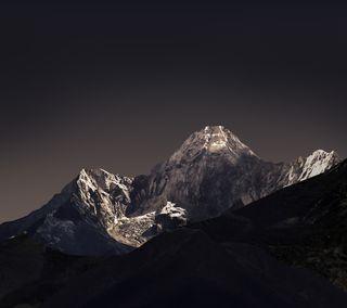 Обои на телефон холод, черные, темные, снег, природа, небо, лед, горы, высокий, белые