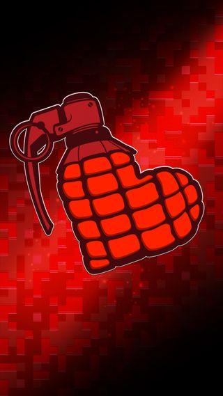 Обои на телефон странные, любовь, крутые, иллюстрации, бомба, арт, pixel, love bomb, lacko, art, 8бит