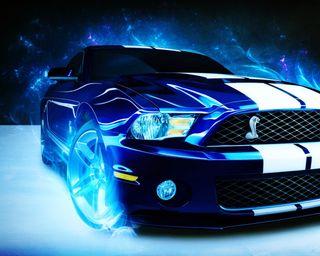 Обои на телефон blue car, ford, mustang, синие, машины, форд, мустанг, колеса