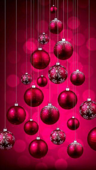 Обои на телефон пожелания, шары, украшение, рождество, праздник, новый, красые, год, hanged