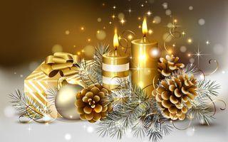 Обои на телефон свечи, подарки, вечеринка, рождество, новый, xmas candles, christmas candles