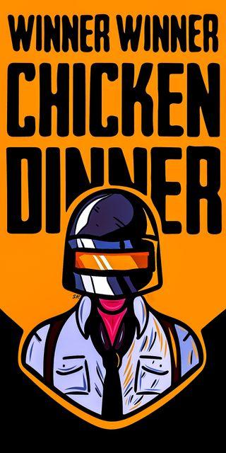 Обои на телефон черные, тема, пабг, курица, игра, pubg chicken dinner, pubg, chicken dinner