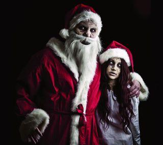 Обои на телефон ходячие, каникулы, санта, рождество, мертвый, зомби, walking dead santa, santaclaus