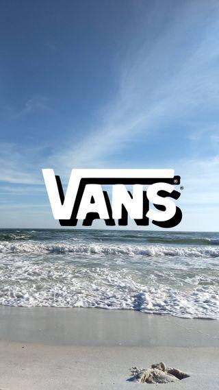 Обои на телефон синие, свет, пляж, пейзаж, небо, море, логотипы, бренды, vans