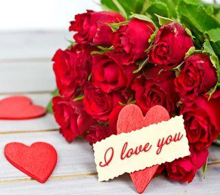 Обои на телефон валентинка, цветы, сердце, романтика, розы, любовь, love