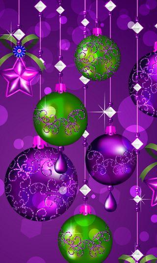 Обои на телефон шары, рождество, абстрактные