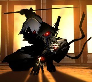 Обои на телефон самурай, тень, темные, робот, ниндзя, меч, киборг, игра, yaiba