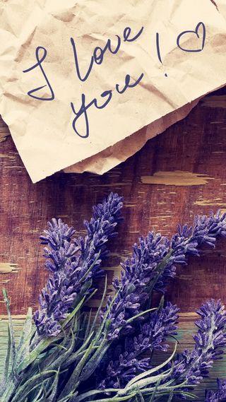 Обои на телефон сообщение, цветы, любовь, лаванда, винтаж, note, love