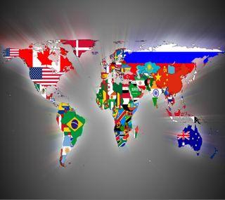 Обои на телефон флаги, флаг, мир, карта, world flag