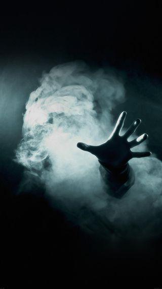 Обои на телефон дьявол, ужасы, рука, зло, дым