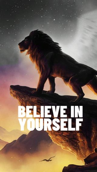 Обои на телефон себя, лев, король, верить, believe in yourself
