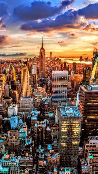 Обои на телефон фото, ультра, новый, закат, город, горизонт, skyline, plus, hd