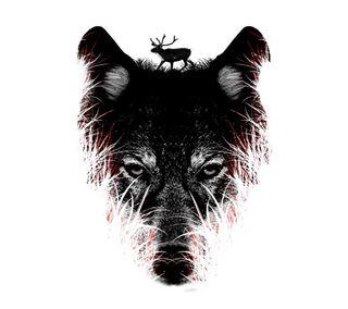 Обои на телефон волк, арт, wolf art, sgm, fsw