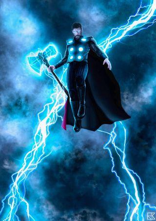 Обои на телефон тор, супергерои, принц, освещение, мстители, молот, гром, герой, война, бог, бесконечность, prince of thunder