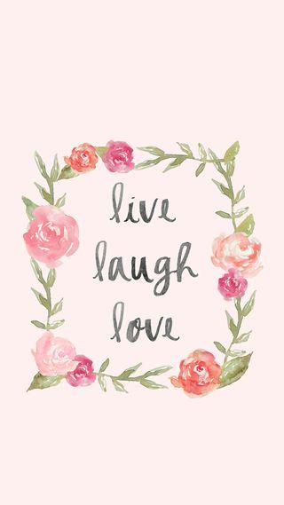 Обои на телефон смех, цитата, цветы, счастливые, смайлики, сердце, розовые, любовь, высказывания, love, live laugh love, live, happy