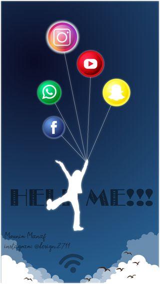 Обои на телефон я, ютуб, фейсбук, социальное, помощь, крылья, инстаграм, wifi, whatsapp, snapchat, help me social media, hd