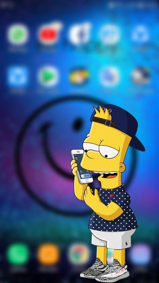 Обои на телефон симпсоны, барт, айфон, phones, iphone, calling bart