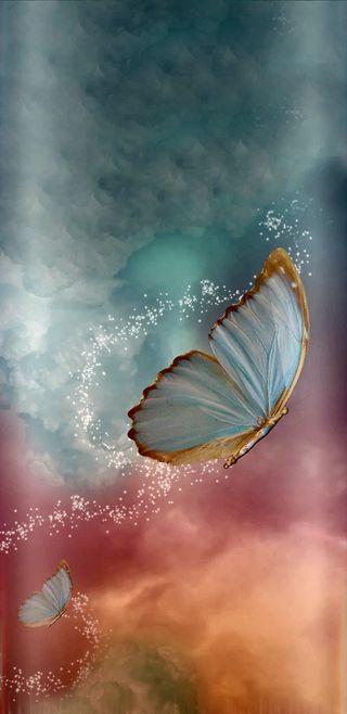 Обои на телефон majicalbutterflies, прекрасные, радуга, бабочки, симпатичные, блестящие, девчачие, реал, крылья, феникс, волшебные