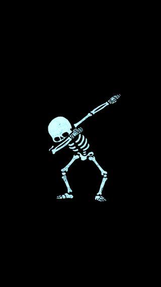 Обои на телефон ужасные, скелет
