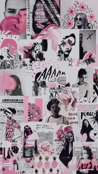 Обои на телефон розовые, арт, us, art