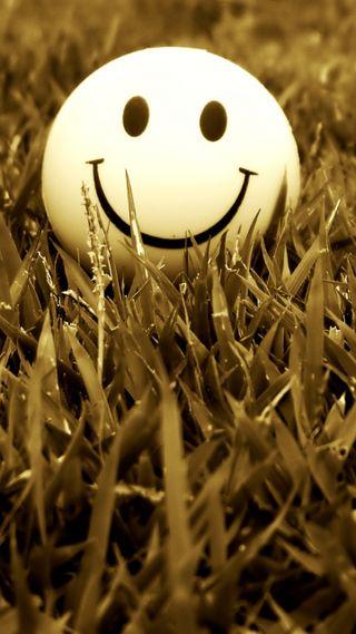 Обои на телефон настроение, трава, смайлики, забавные, smile grass mood