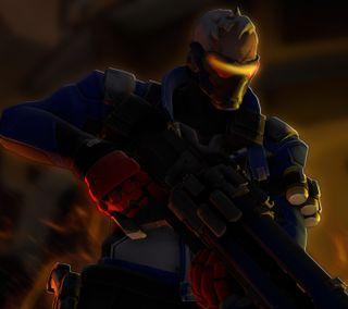 Обои на телефон игры, soldier76, overwatchsoldier76, overwatch