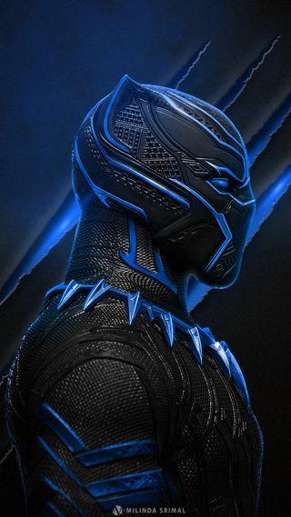 Обои на телефон черные, синие, крутые, герой, супергерои, пантера