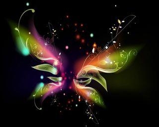 Обои на телефон радуга, крылья, красочные, бабочки, абстрактные