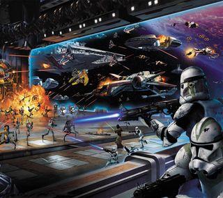 Обои на телефон корабли, космос, звезды, звезда, войны, война, бой, war in the stars, star wars, space ships, sci-fi
