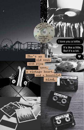 Обои на телефон черные, милые, белые, эстетические, слова, коллаж, персик