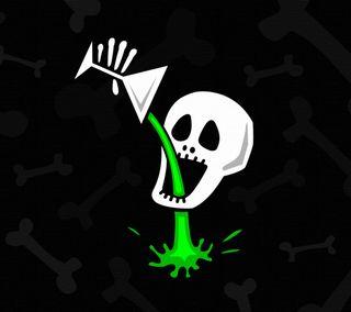 Обои на телефон стоп, шутка, череп, скелет, напиток, зеленые, забавные, готические, no stop