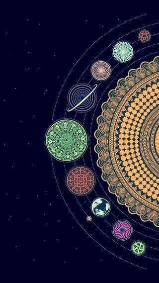 Обои на телефон цветные, формы, планета, космос, tumblr