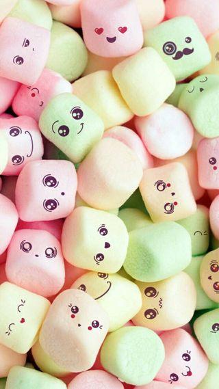 Обои на телефон marshmallows, милые, розовые, девчачие, еда, счастье, пушистые