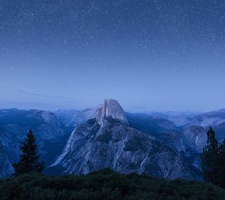 Обои на телефон эпл, ночь, звезда, горы, mountain night, macintosh, mac, apple