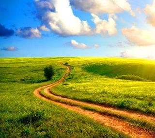 Обои на телефон природа, прекрасные, поле, пейзаж, облака, дорога