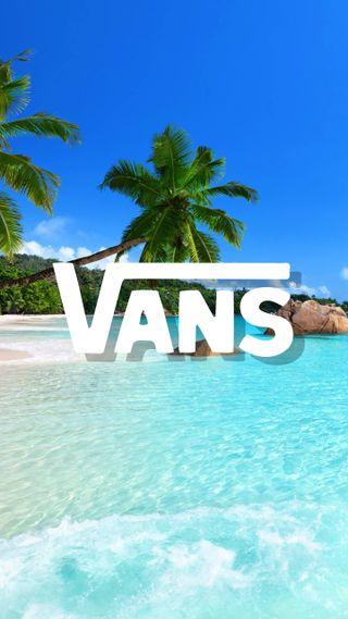 Обои на телефон пляж, отпуск, море, логотипы, бренды, vans