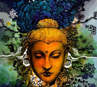 Обои на телефон дзен, симпатичные, прекрасные, будда, арт, beautiful buddha, art