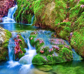 Обои на телефон ручей, водопад, река, прекрасные