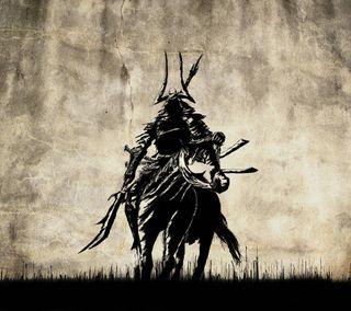 Обои на телефон самурай, лошадь, воин, samurai warrior