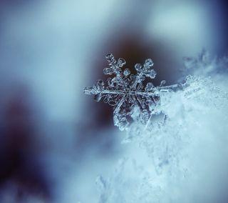 Обои на телефон снежинки, лед, снег, ремикс, зима, unsplash