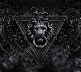Обои на телефон лев, темные, абстрактные, tomb