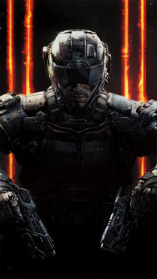 Обои на телефон черные, solder, call of duty black ops 3, call of duty, black ops 3
