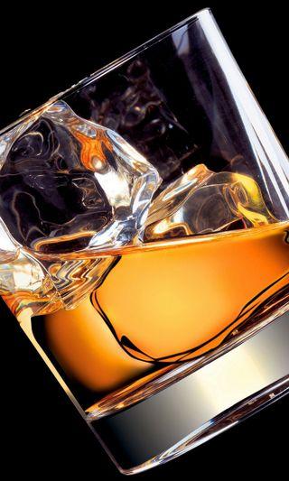 Обои на телефон алкоголь, стекло, напиток, лед, amber