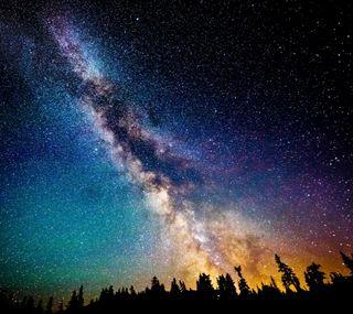 Обои на телефон туманность, ночь, звезды, звезда, галактика, galaxy