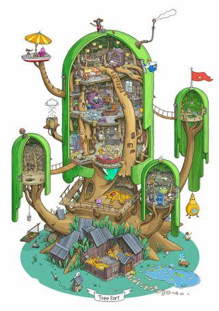 Обои на телефон приключение, джейк, дерево, время, fort, fin, adventuretime