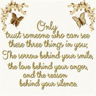 Обои на телефон доверять, цитата, только, тишина, текст, смайлики, sorrow, only trust